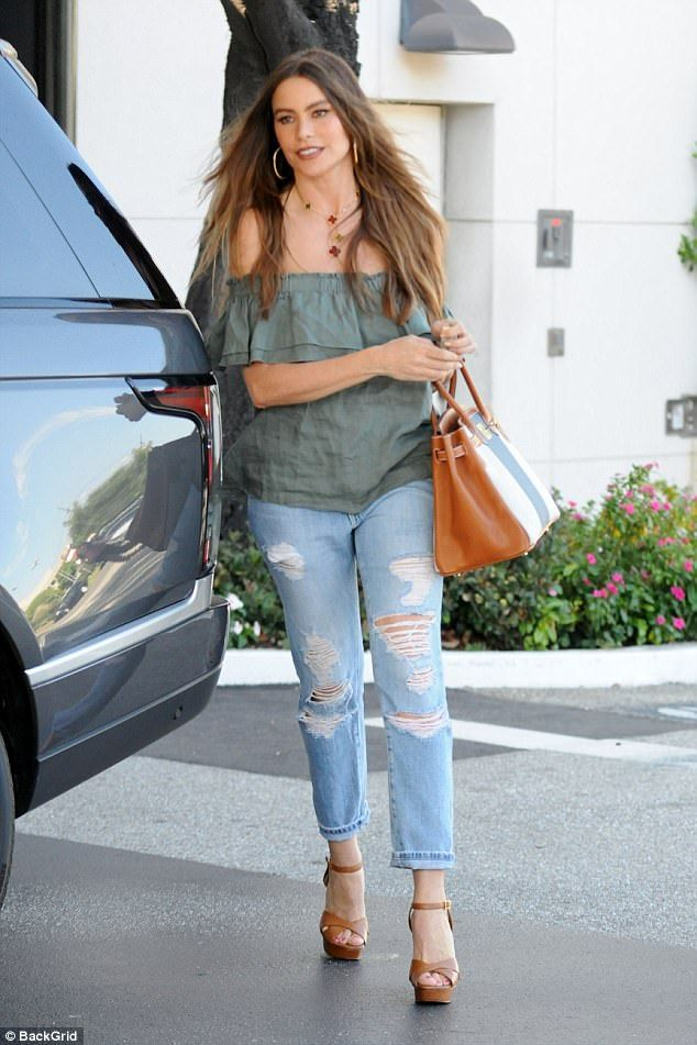 Beauty: Sofia Vergara showed off her effortless sartorial style on Wednesday afternoon as ...