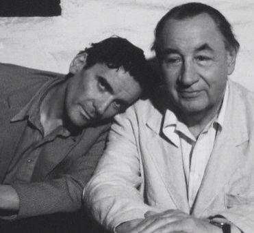 """Massimo Troisi & Philip Noiret in the film """"IL POSTINO"""" (The Postman)"""
