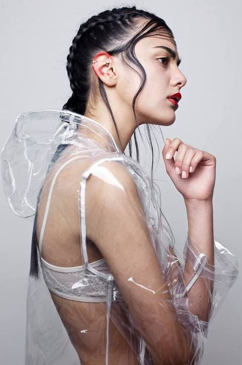 Transparent raincoat @jacintachiang