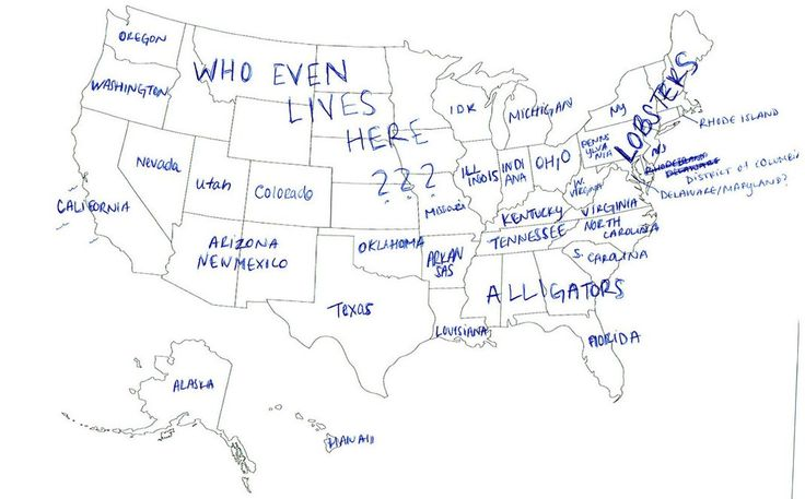 NonAmericans Label The States On The US Map First Stop Viral - Brits label us map 2015