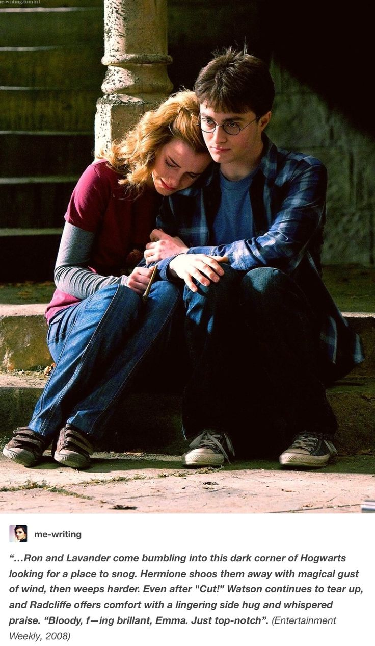Harry Potter bts - Harry and Hermione