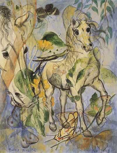 Papillons by Francis Picabia.   Exhibited at museum 'de Fundatie', Zwolle, The Netherlands.