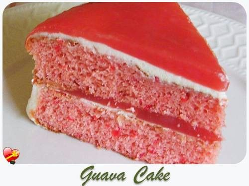 A little piece of Guava Cake goodness! Get more delicious Hawaiian food recipes here.