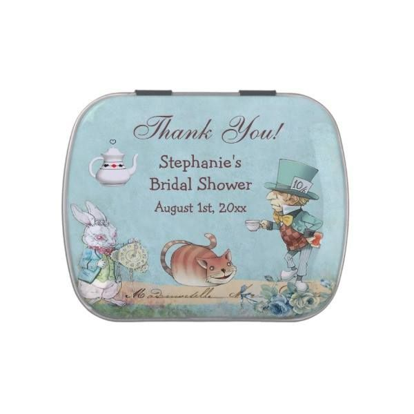 http://ift.tt/2v8jx9A Shop https://goo.gl/ryyGSC   Mad Hatter Bridal Shower Thank You Favor Jelly Belly Tin    Thank You Bridal Shower favors.  Elegant vintage Alice in Wonderland Mad Hatter's tea party blue Thank You Bridal Shower favors / favours perfect to Wonderland themed showers. There...  Go To Store  https://goo.gl/ryyGSC  #AliceInWonderlandBridalShowers #AlicesAdventuresInWonderland #BeautifulAliceThemedParties #BlueMadHattersTeaParty #ClassyTrendyWonderlandThemes…