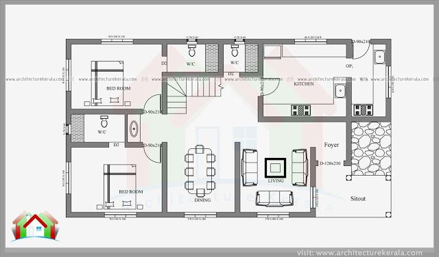 Stylish 4 Bedroom Small Plot Home Design With Free Plan Bedroom House Plans Four Bedroom House Plans 4 Bedroom House Plans
