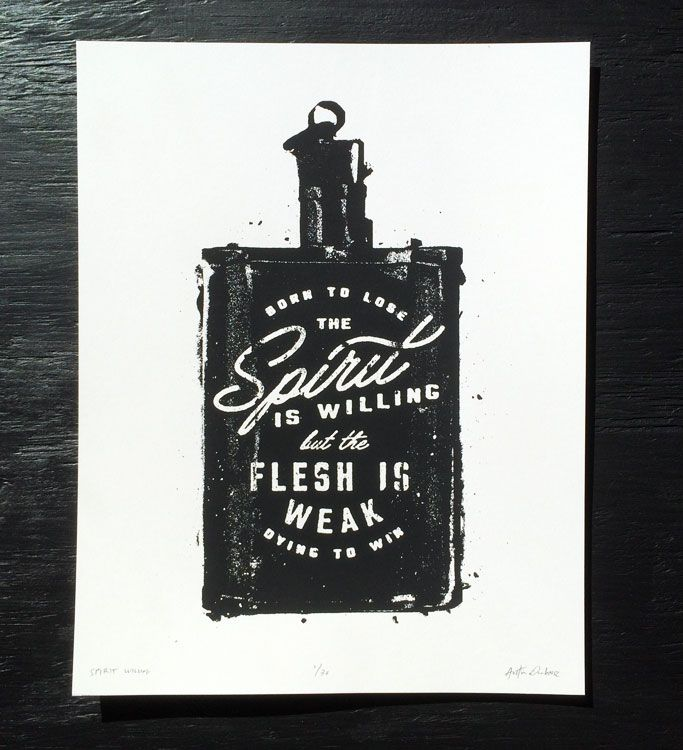 Spirit Willing Print — Durham Brand & Co.