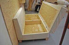 Faça você mesmo seus móveis de madeira: Sofá com assento dobrável