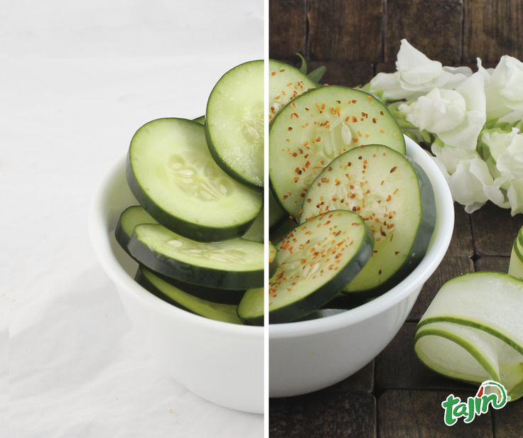 Cucumbers are even better with a hint of lime and Tajín./ #Pepinos con #Tajin