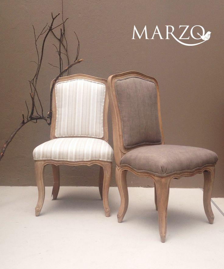 sillas en lino natural
