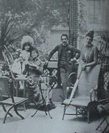 La comtesse Greffulhe with her daughter, her cousin, Robert de Montesquiou-Fezensac, and her mother-in-law, Pauline de Sinety