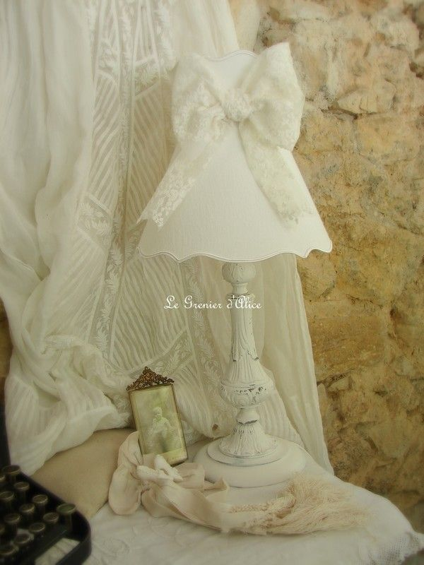 62 best Abat jour & pieds de lampe, lampshade shabby chic images on ...