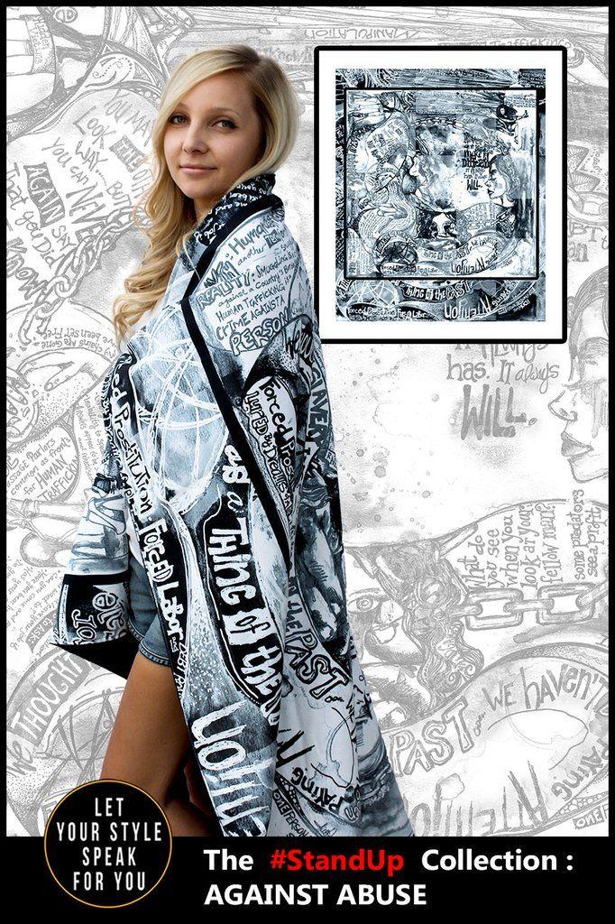 Modern Day Slavery Motif- Microsuede Blanket