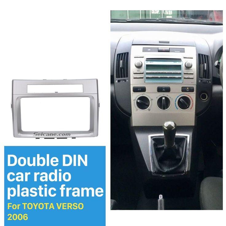 Nice Awesome Car Stereo Radio Fascia Panel 2 Din Trim kit for Toyota Corolla Verso 2004-2009 2017 2018