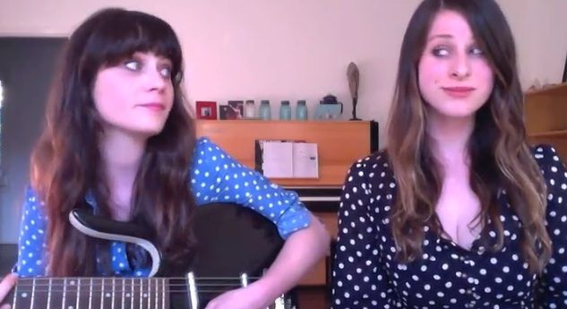 """Beautiful version of the Everly Brothers' """"Love Hurts"""" by Zooey Deschanel & Sasha Spielberg via @HelloGiggles: http://hellogiggles.com/video-chat-karaoke-special-zooey-deschanel-sasha-speilberg-love-hurts-nazareth"""