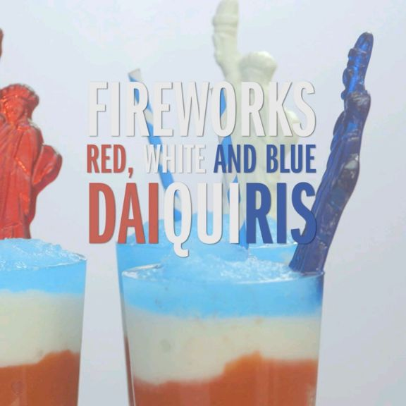 Fireworks Red, White And Blue Daiquiris