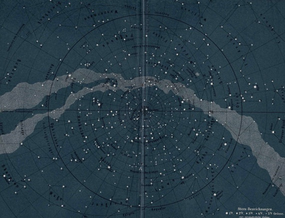 Private sale gina---for 1889 milky way star map original ...
