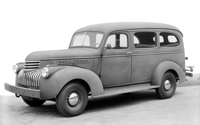 Happy 75th, Chevy Suburban | A 1941 Suburban. During wartime, they were used by the U.S. Armed Forces. | From WIRED.com
