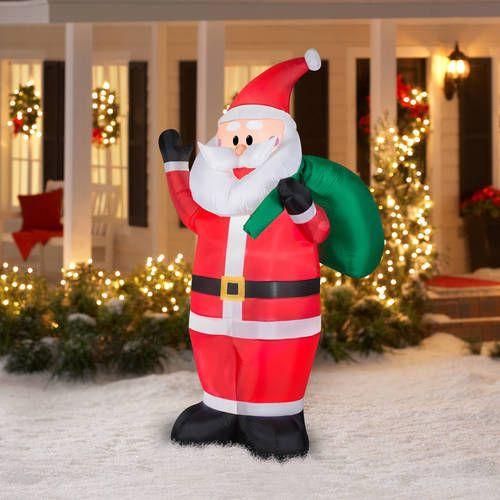7' Inflatables Waving Santa Claus Airblown Christmas Outdoor Yard Holiday Decor