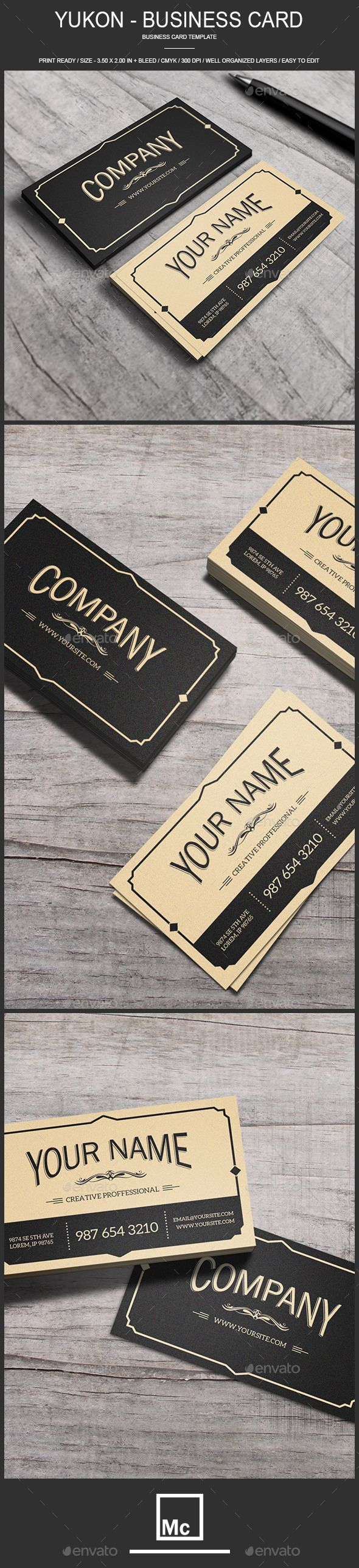 Yukon - Vintage Business Card - Retro/Vintage Business Cards