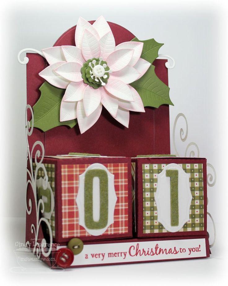 Mft Pep Rally Block Calendar Tutorial Paper Crafts Christmas