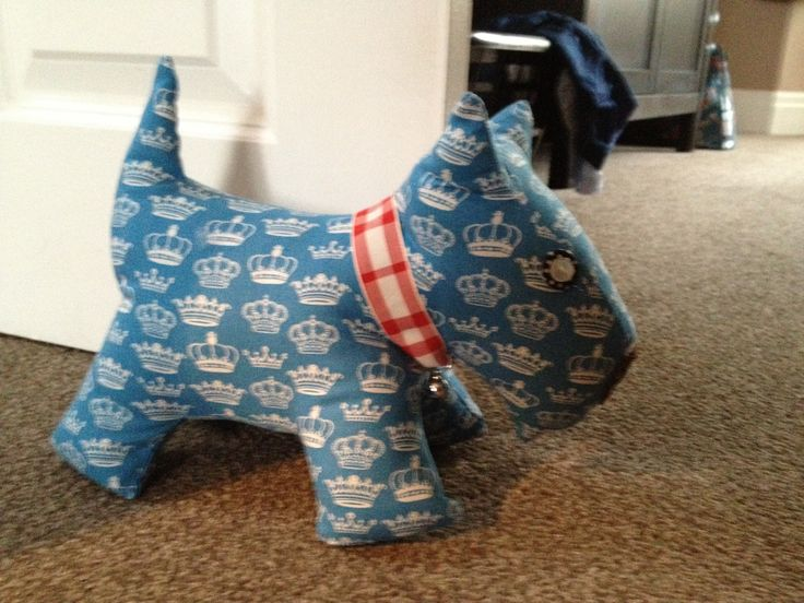 My handmade Scottie dog door stop