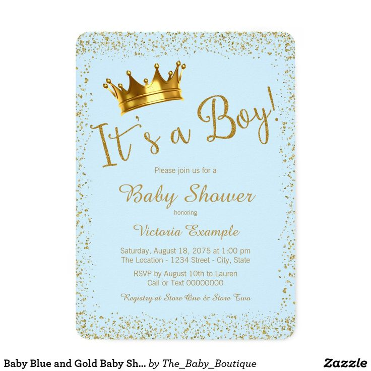 Baby Blue and Gold Baby Shower