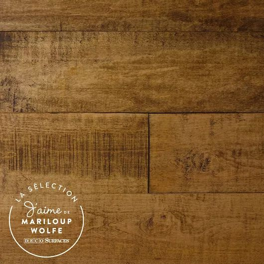Un plancher de bois franc en Érable