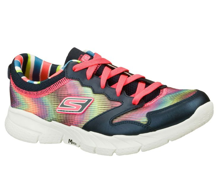 Intensify your fitness activity with the Skechers GOfit - Tempo shoe.  Textured mesh fabric and synthetic upper in a lace up athletic fitness cross training sneaker with Resalyte midsole and stabilized sole.