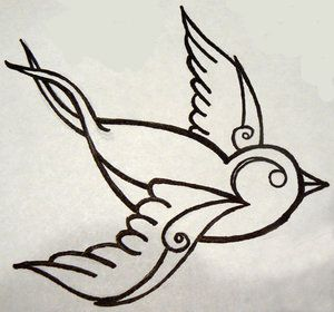 Birds Tattoos For You: Traditional Swallow Bird Tattoo