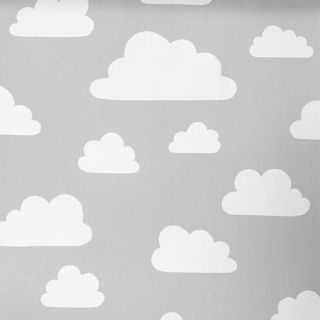 Clouds Grey cotton fabric. Gunila Axén created this stunning and timeless cloud design in 1967. It has become one of Sweden's most famous graphic designs. Perfect for curtains, blinds and other furnishings.