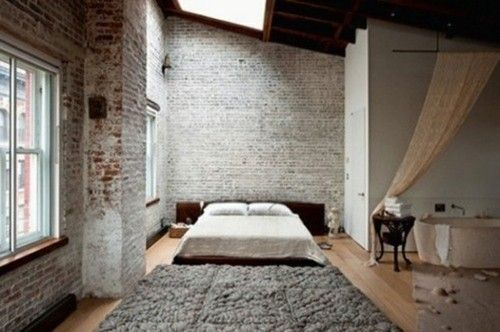 lofty.Spaces, Exposed Bricks, Beds, Loft Bedrooms, Bricks Wall, Interiors, Cars Girls, Girls Style, Expo Bricks