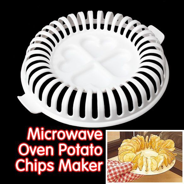 Lightweight Diy Low Calories Microwave Oven Fat Free Potato Chips Maker