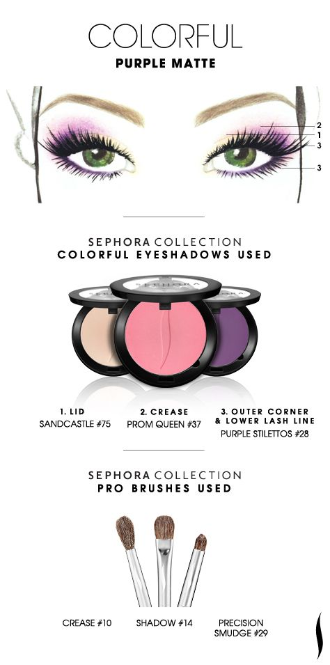 COLORFUL: Purple Matte HOW TO #sephoracollection #sephora #eyeshadow #makeup #SephoraSweeps