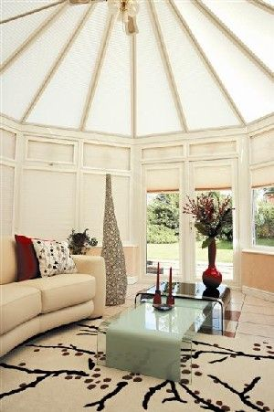 cream conservatory roof blinds