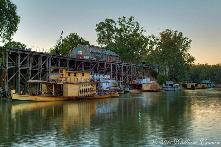 The Port of Echuca on the Murray River...