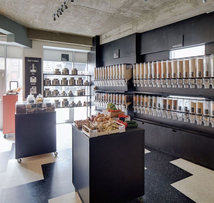 Unpackaged grocery cafe by Multistorey London 06