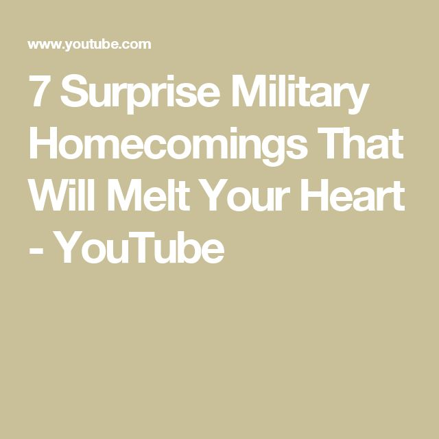 7 Surprise Military Homecomings That Will Melt Your Heart - YouTube