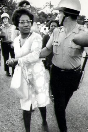 """Minority Lit.""Clara Mae Luper was one of the early leaders of the civil rights movement in Oklahoma in the 50s. She was arrested 26 times for her civil rights activities. She led sit-ins to end segregation all over Ok. She was a candidate for the US Senate in 1972, and developed Black Voices Magazine in the the late 70s.  Her face though is priceless"