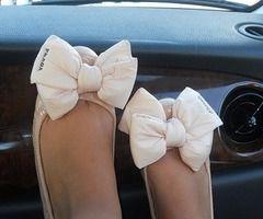 bow flats <3Bows Flats, Fashion, Style, Prada Bows, Pump, Pink, Ballet Flats, Big Bows, Bows Shoes