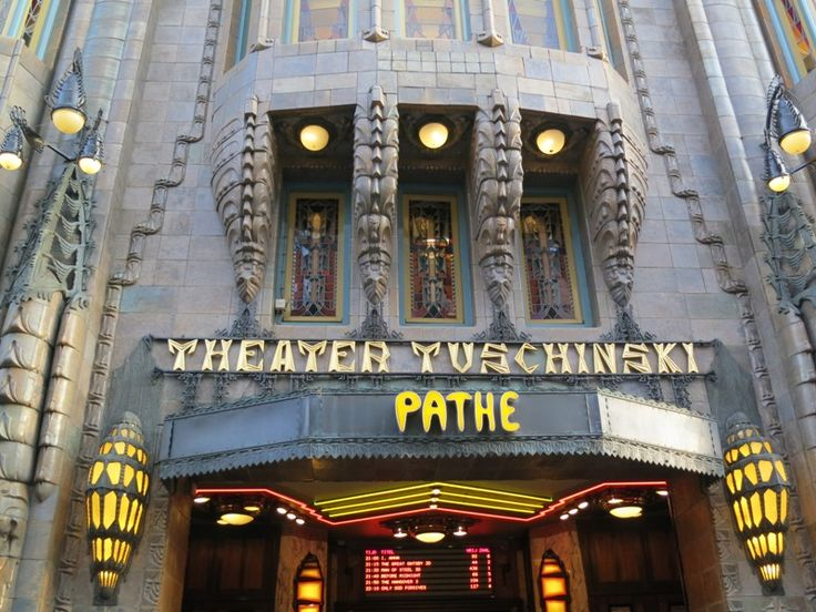Tuschinski is a stunning Art Deco / Jugendstil / Amsterdamse School cinema, which opened in 1921. The façade, gates and welcome hall is already stunning and worthwhile a visit, but try to see a movie in the main theatre (Zaal 1 or Grote Zaal).