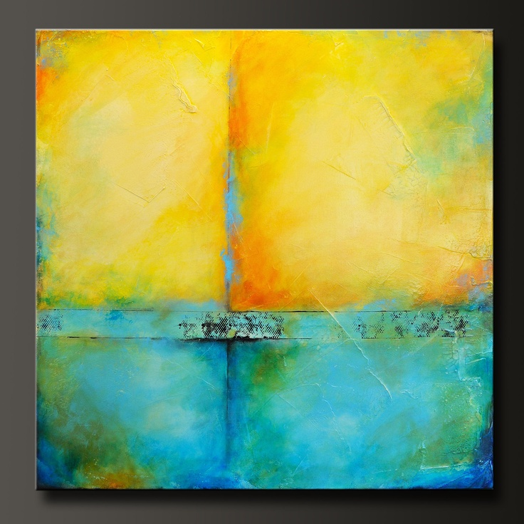 Inspired - 36 x 36 - Abstract Acrylic Painting - Huge - Contemporary Wall Art. via Etsy.