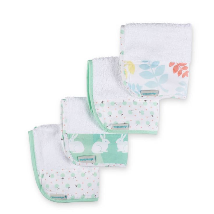 Towelling Washers 4PK - Forest Friends