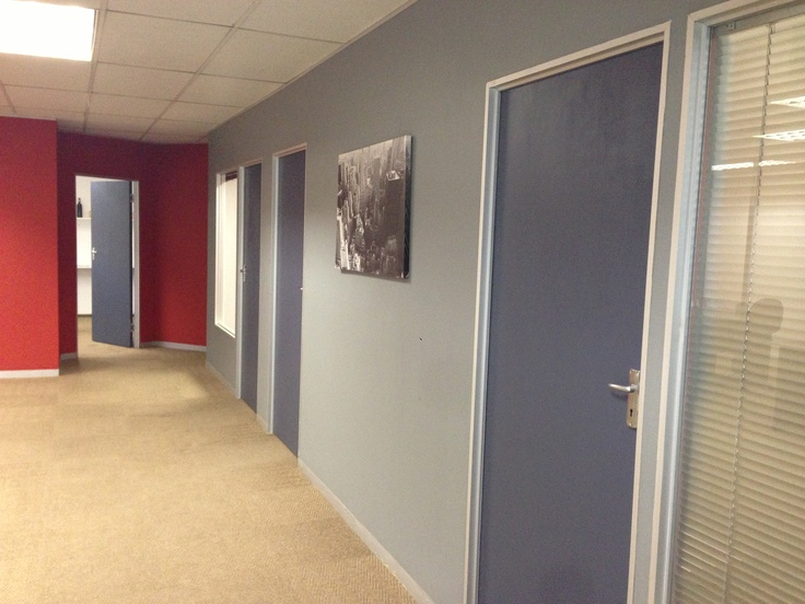 Our new freshly painted offices!