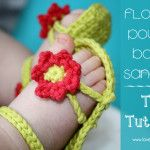 Flower Power Baby Sandals – these are absolutely adoreble.