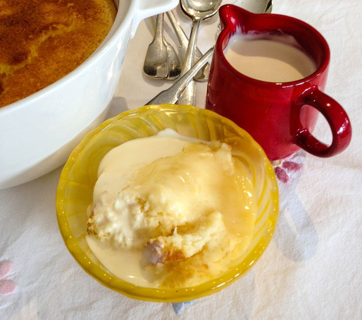 Lemon delicious pudding is a classic and, in many families, the ultimate pudding – the golden sponge topping hiding a creamy lemon sauce.