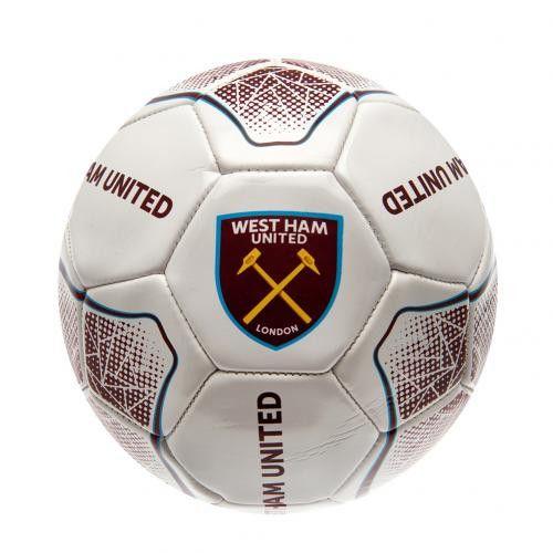 "West Ham United FC - Size 5 White ""Prism"" Ball"
