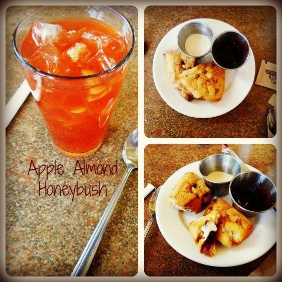 Apple Almond Honeybush Iced #tea with scones, cream and jam @wystones