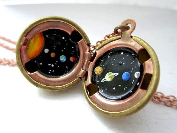 to the moon, alice... Solar System Locket