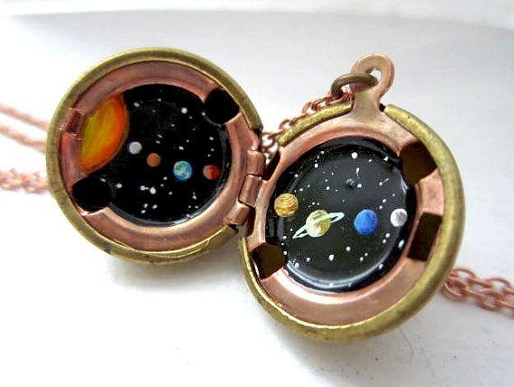 Solar System locket! So cool!