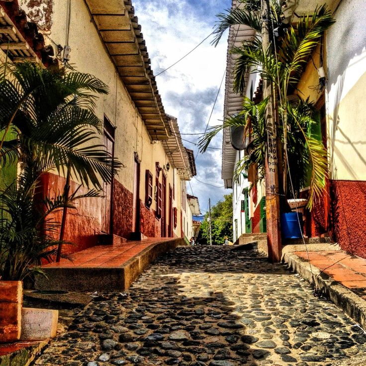 Beautiful Cobblestone streets Santa Fe de Antioquia